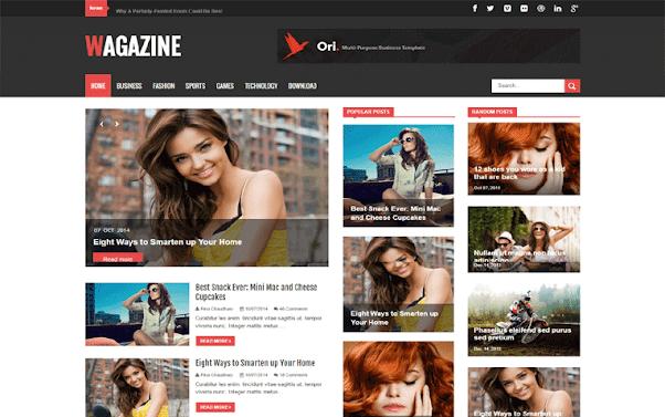 Wagazine Free Blogger Template