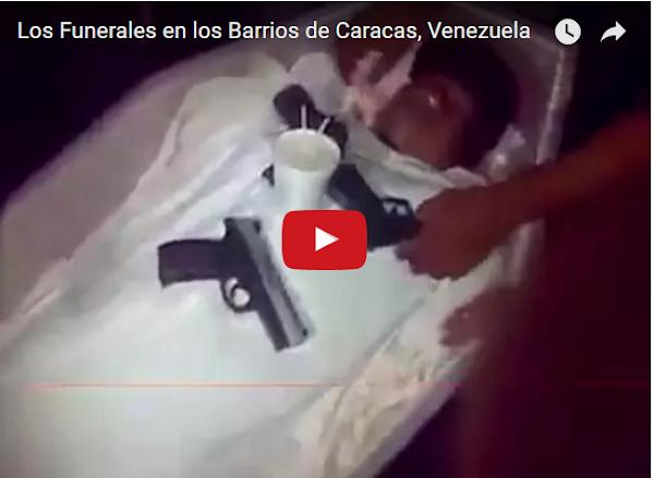 El funeral del Super Yanky en un barrio de Caracas