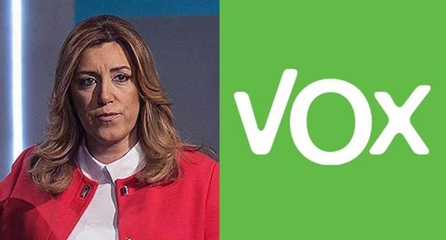 Integrantes de VOX increpan a Susana Díaz en plena jornada electoral
