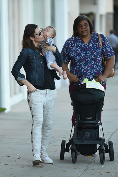 Jessica Biel with her son Silas walk in Los Angeles
