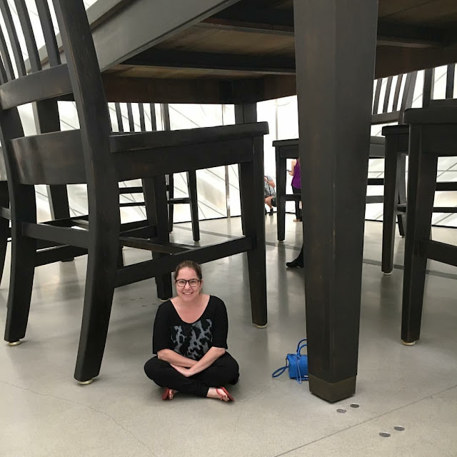 Los Angeles, Jamie Allison Sanders, The Beauty of Life, Los Angeles Anniversary, LA-iversary, The Broad Museum, Under the Table by Robert Therrien, art, art museum, art installation, modern art