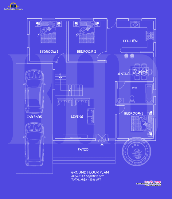 First floor blueprint year 2017