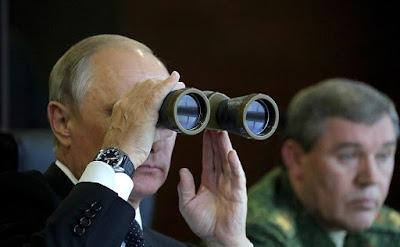Vladimir Putin watching Zapad-2017 Russian-Belarusian exercises.