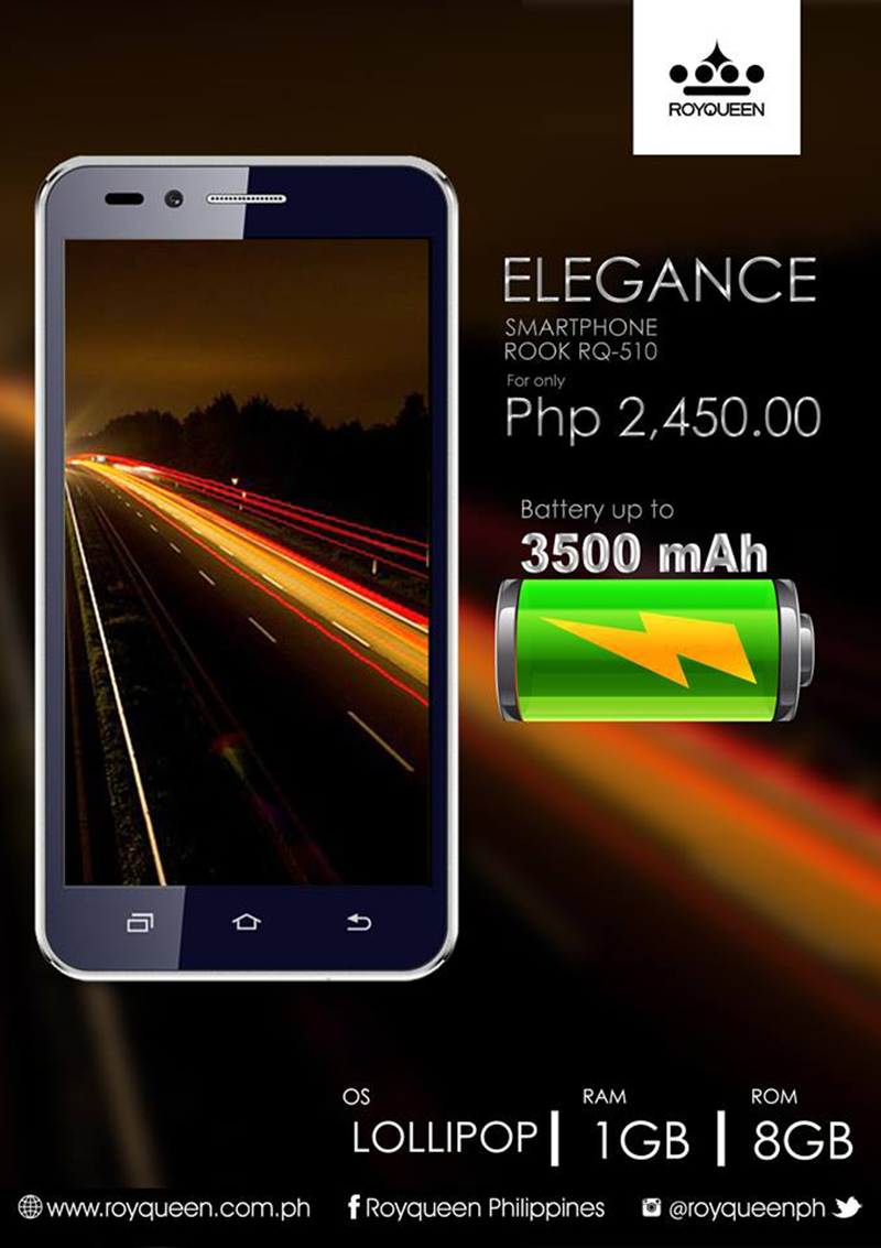 Royqueen Elegance Is A Budget Smartphone With Large Battery Capacity!