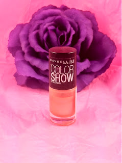 Maybelline - color show - nail polish - coral reef - nail varnish - coral - orange - swatch - review