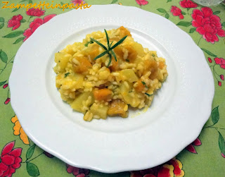Risotto di zucca e patate