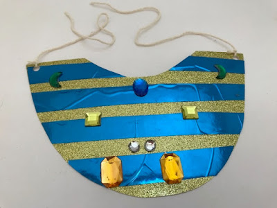 Egyptian necklace craft for a costume