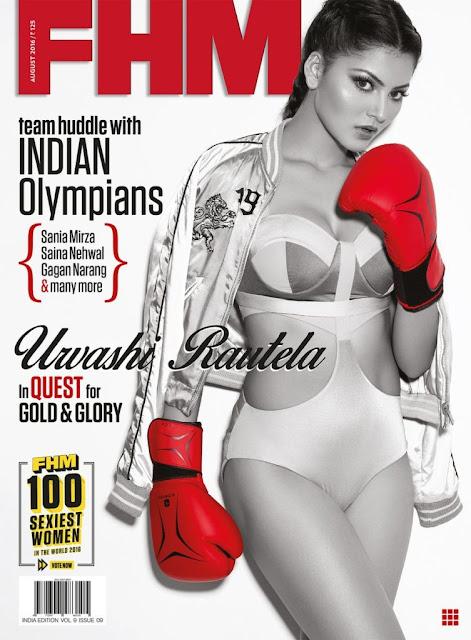 Actress, Model, @ Urvashi Rautela – FHM Magazine, August 2016