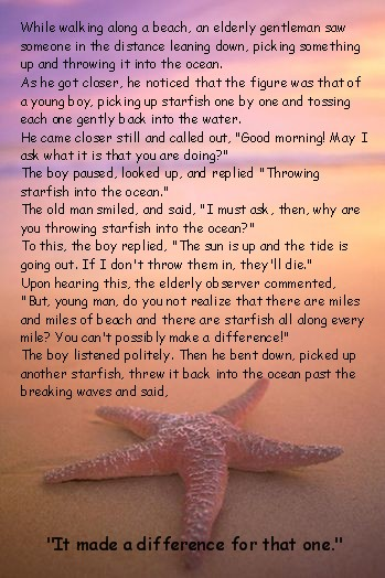 Starfish poem for teachers printable myideasbedroom com