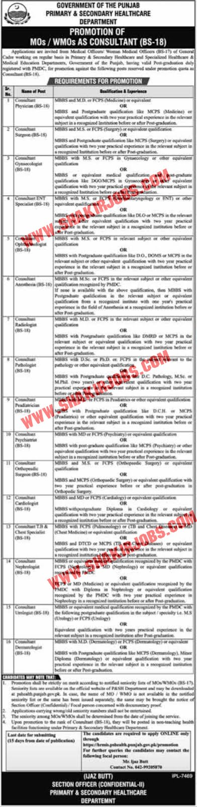 Jobs in Primary & Secondary Healthcare Department Jobs September 2020