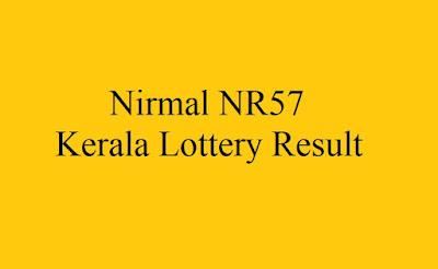 Nirmal NR57 Kerala Lottery Result #nirmalnr57