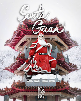 Santa Guan Vinyl Figure by Tik Ka From East x Mighty Jaxx