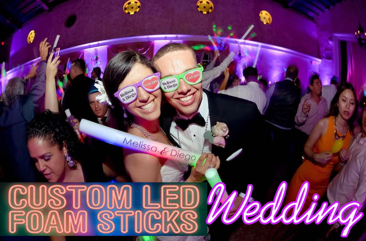 Custom Printed Wedding Led Foam Sticks And Wedding Party Sun