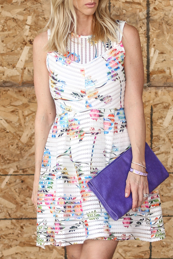 fit and flare floral print spring dress