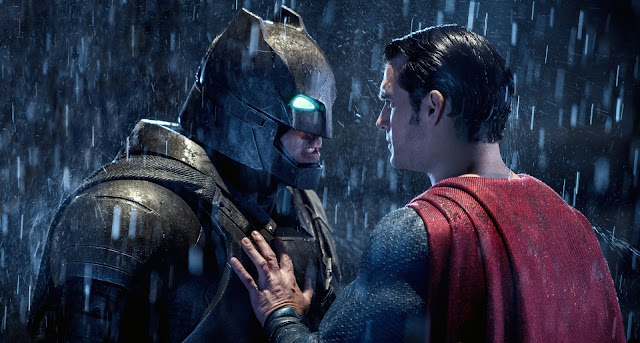 Batman vs Superman Face to Face On The Rain