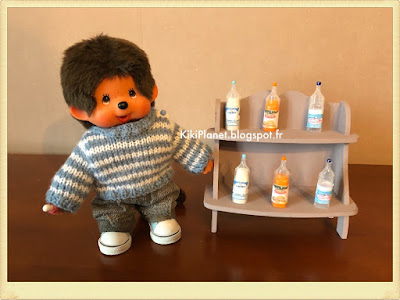 DIY Do it yourself tutorial bouteilles miniatures monchhichi kiki poupée