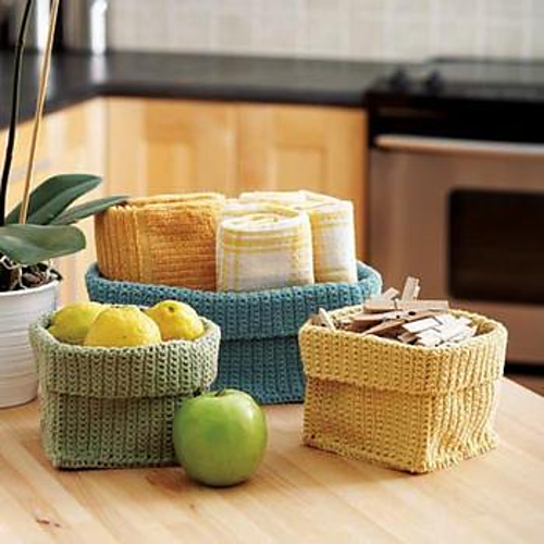 Two Strand Basket - Free Pattern