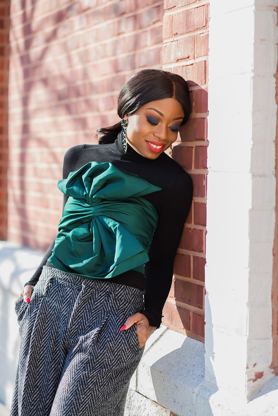 turtleneck and crop top, www.jadore-fashion.com
