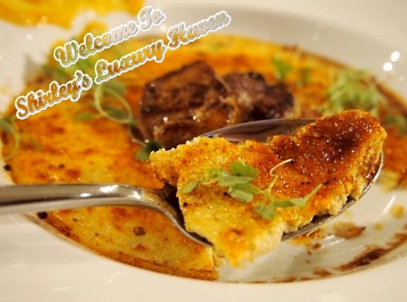 duo custard pan seared foie gras