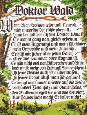 Doktor Wald Gedicht