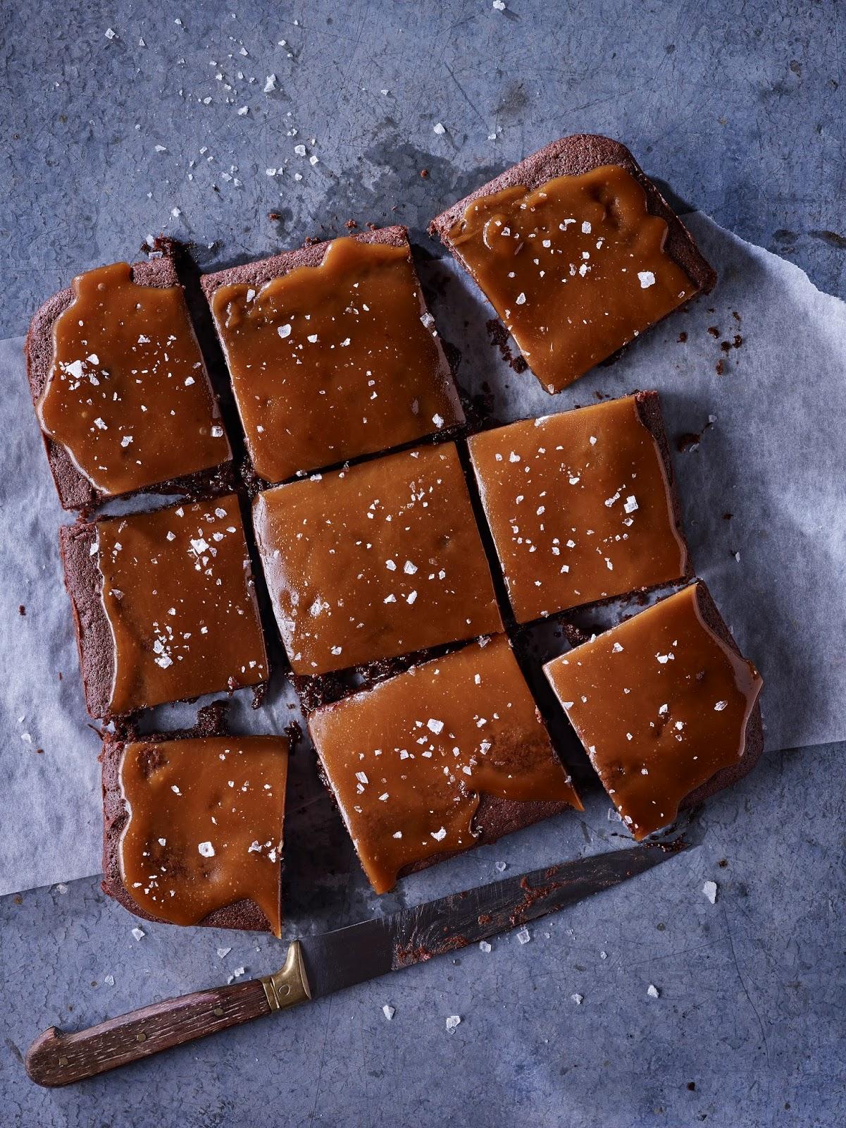 Gooey Sea Salted Caramel Brownies
