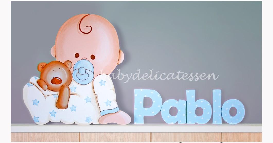 BABY DELICATESSEN: SILUETA DE BEBE CON OSO + PABLO