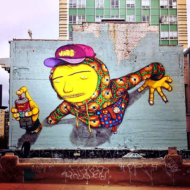 Street Art By Brazilian Duo Os Gemeos On The Streets Of San Francisco, USA. 2