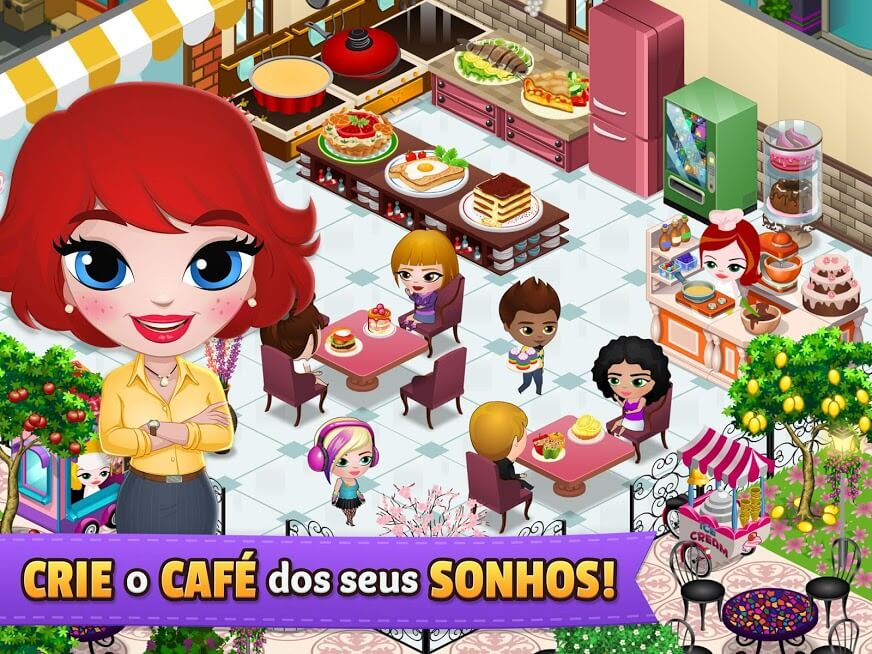 Baixar Cafeland - Jogo de Restaurante v 2.1.49 apk MOD