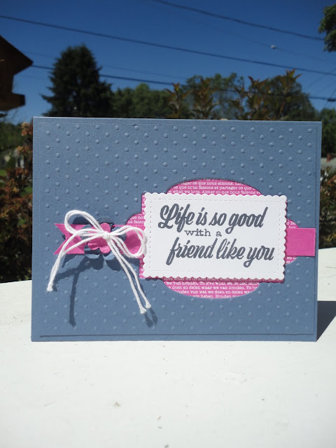 Friend Like You Stampin' Up! thinking of you friendship handmade cards Nicole Steele The Joyful Stamper Independent Stampin' Up! Demonstrator online stamping classes free