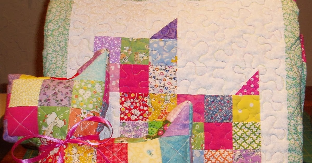 Sunshine In The Attic Scottie Dog Baby Quilt And Pillow