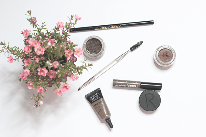 a photo of brow products