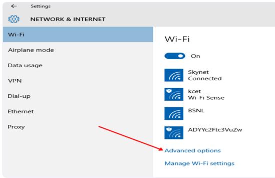 Windows 10 Updates Adavanced Options