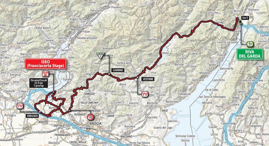 DIRETTA GIRO: Oggi Lago di Garda Iseo Live Streaming, arrivo tappa gratis su Rai TV