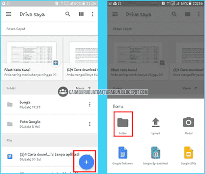 upload file di Google Drive Android