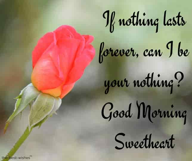 good morning sweetheart i love you sms