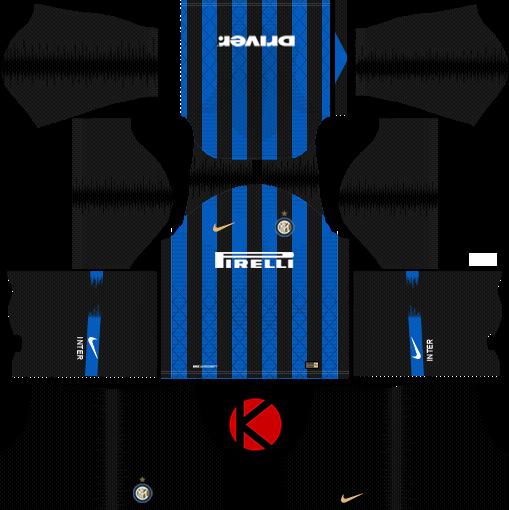 Inter Milan 2018/19 Kit - Dream League Soccer Kits - Kuchalana