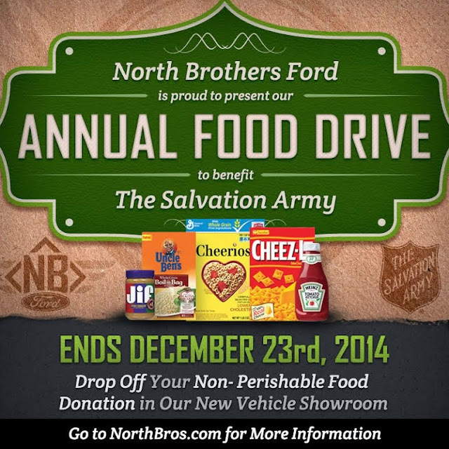 North Brothers Ford Annual Food Drive Starting November 1st!