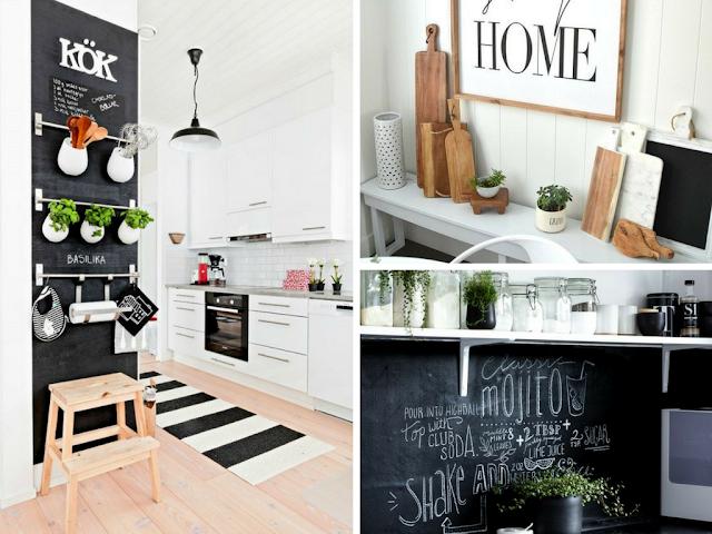 Elementos decorativos que são simultâneamente peças úteis na cozinha