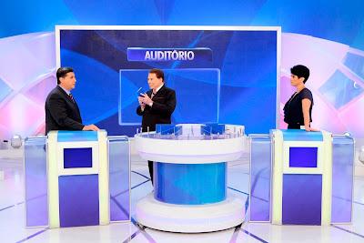 Nascimento, Silvio e Mariana (Crédito: Lourival Ribeiro/SBT)