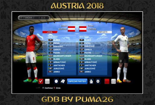 Austria 2018 Kits Update PES 2013