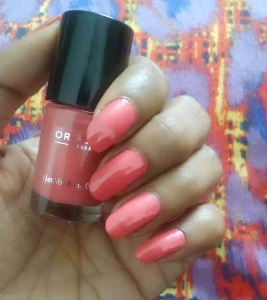 Pink Nail Polish Mini: Alive N Kicking: Oriflame Pure Colour Nail Polish Mini