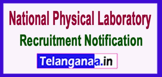 National Physical Laboratory NPL Recruitment Notification 2017