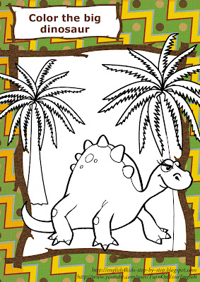 dinosaur stegosaurus coloring page for preschool