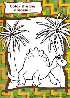 dinosaur stegosaurus coloring page for preschool