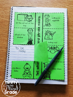 Explain the meaning of the nonliteral phrase in this interactive notebook page!