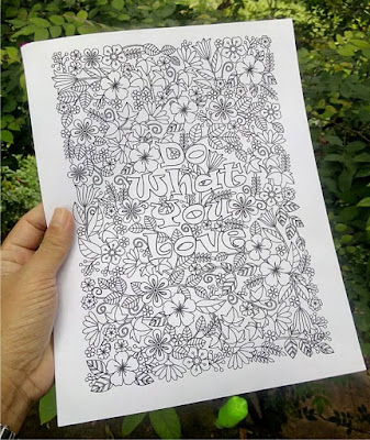 do what you love coloring page