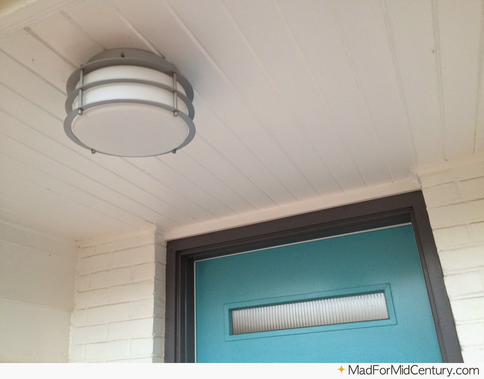 Mad For Mid Century Done New Front Porch Light