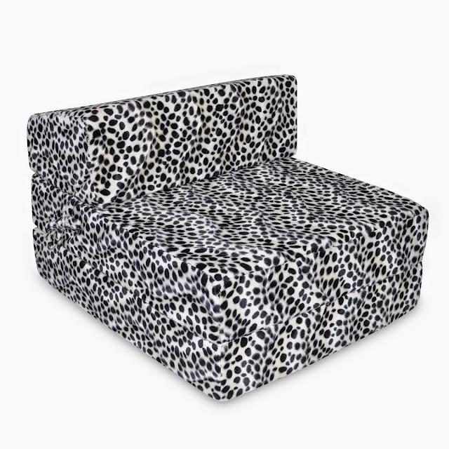 leopard print memory foam sofa bed