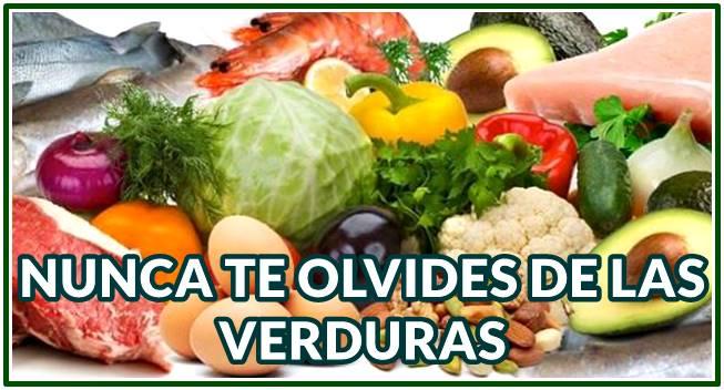 Siempre incluye muchas verduras en tus dietas para adelgazar