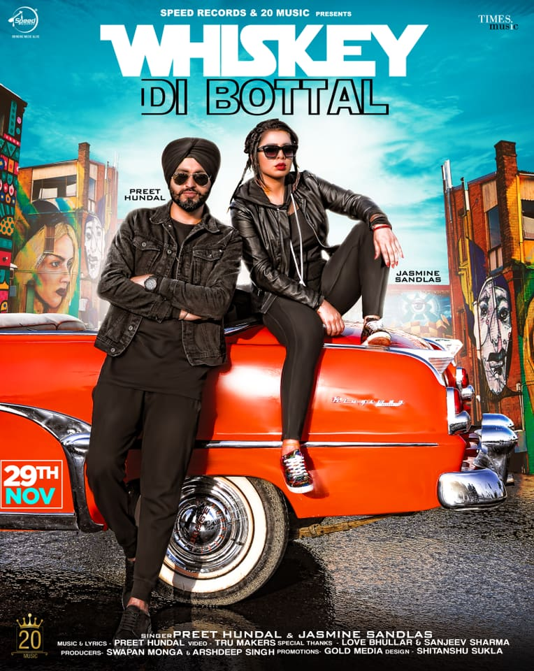 Whiskey Di Bottal  Preet Hundal &Jasmine Sandlas  new song